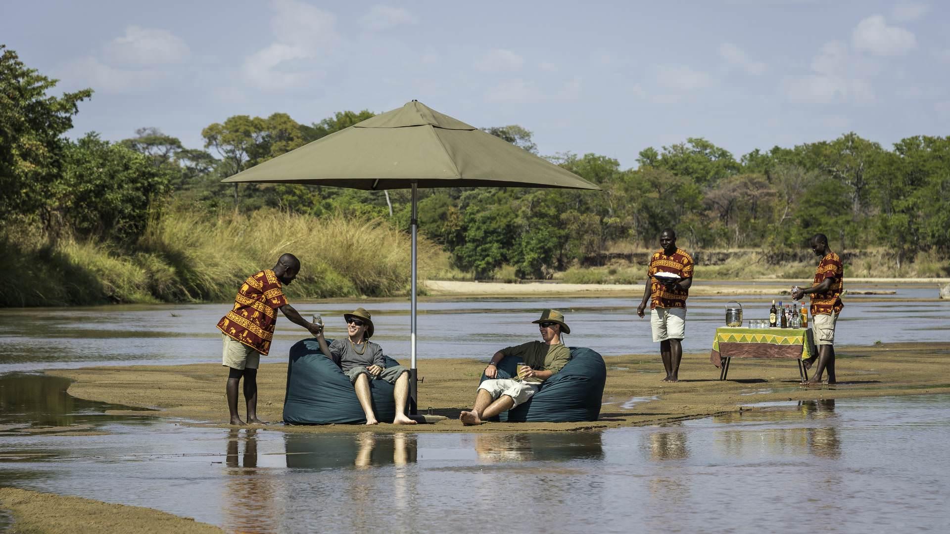 Cooling off on safari