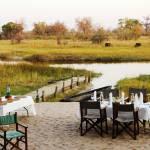 Mittag essen motswiri camp botswana