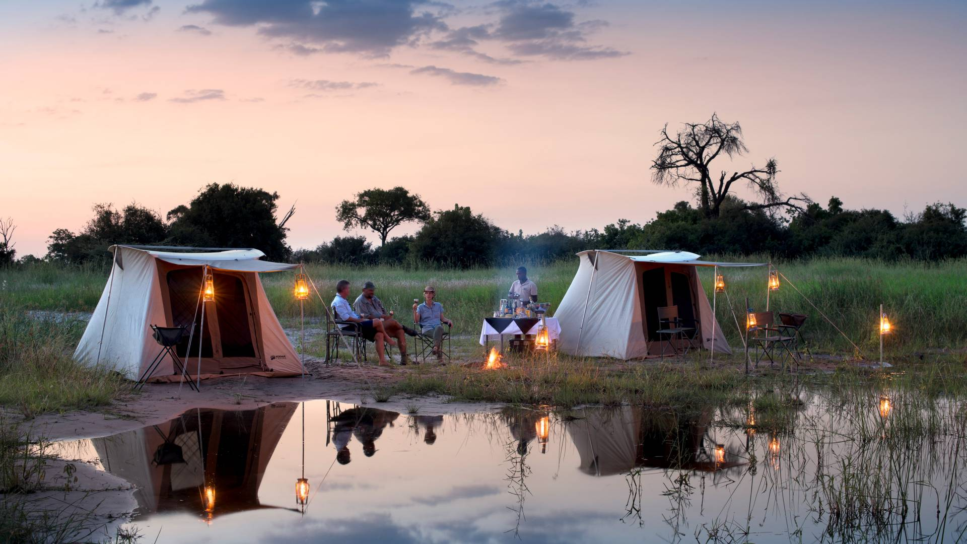 Mobile Safari mit Selinda Explorer Great Plains Botswana