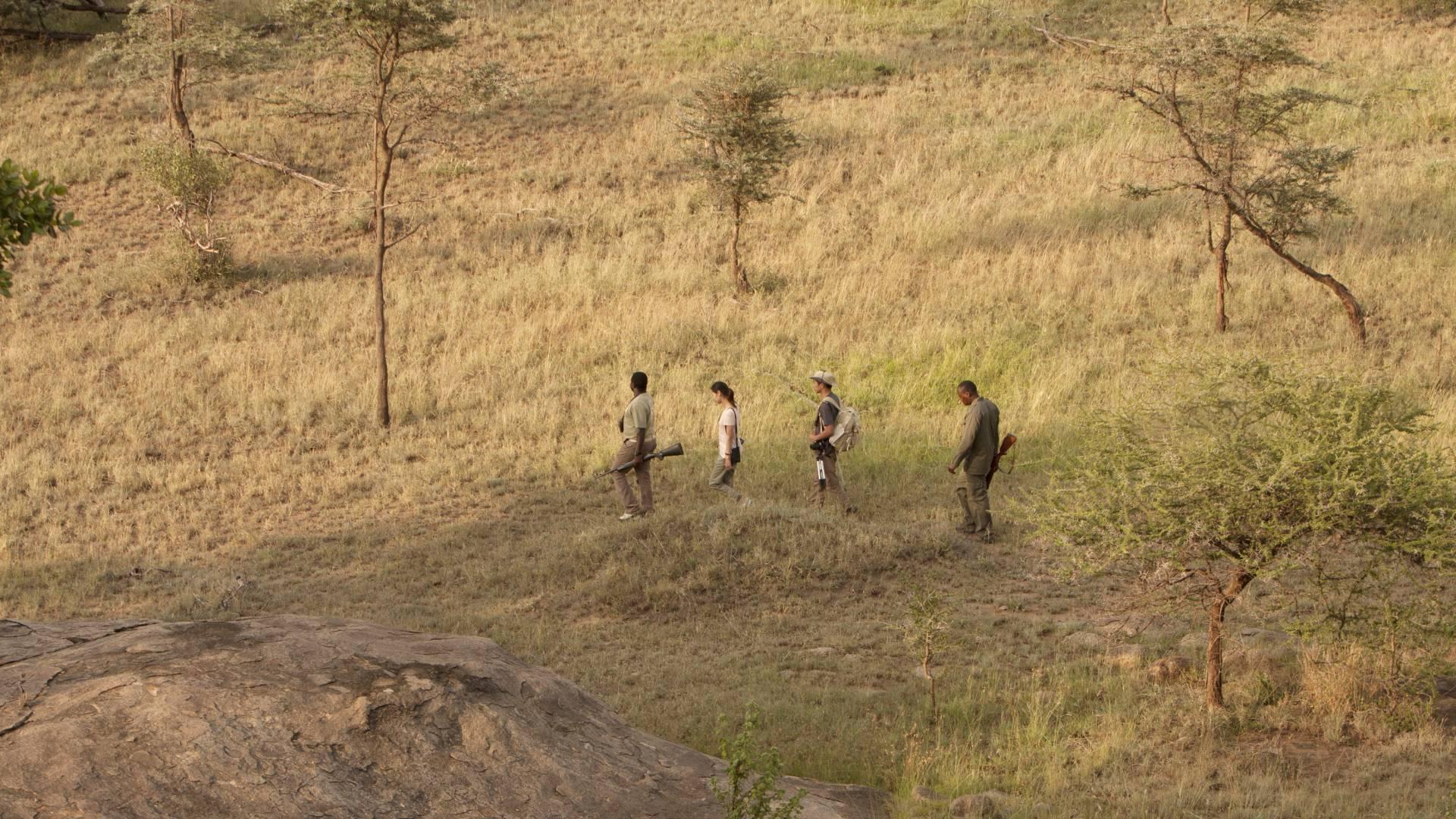 zu fuss im serengeti wayo africa