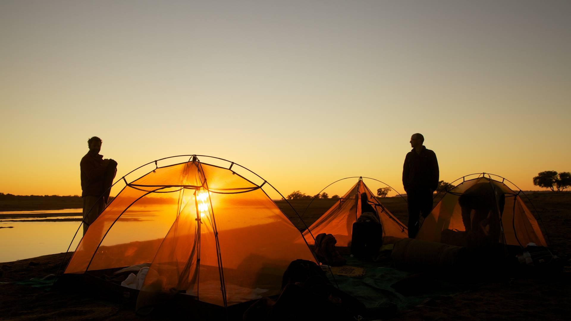 Sunset at a gonarezhou flycamp simbabwe