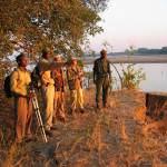 Walking at Island bush camp with Kafunta safaris in Zambia