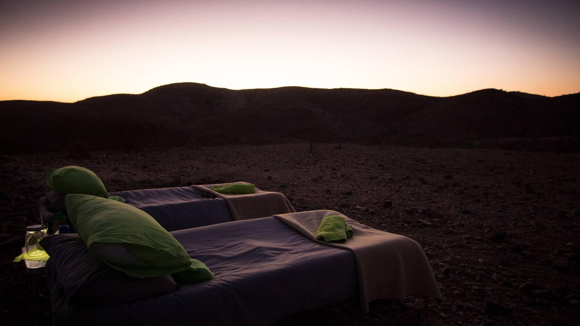 Sternen Himmel bett namibia