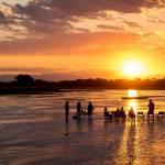 Sunset and sundowners with The Bushcamp Company South Luangwa Zambia