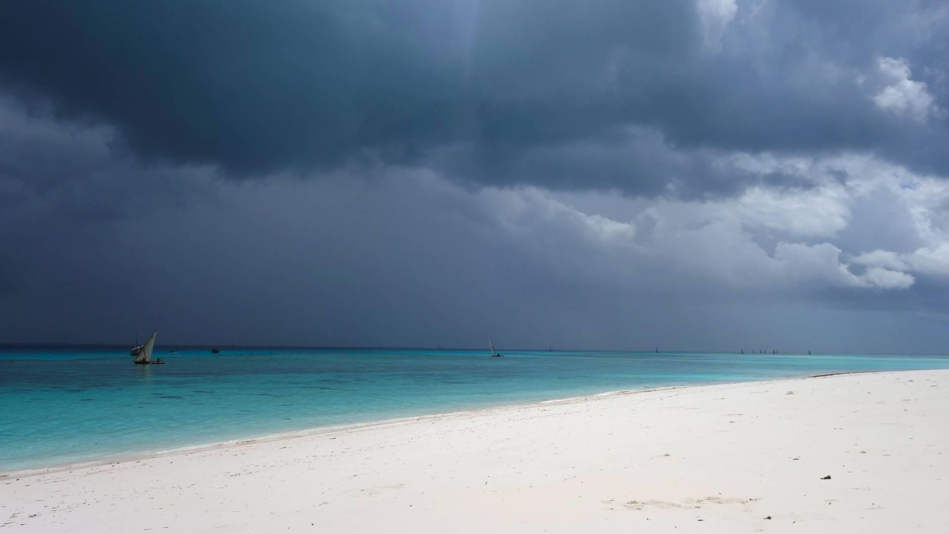 einsame strand gewurze insel sansibar